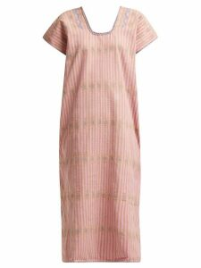 Pippa Holt - No.112 Embroidered Cotton Kaftan - Womens - Pink Multi