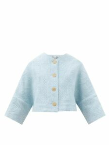 La Doublej - Pellicano Geometric Print Brocade Dress - Womens - Black Gold