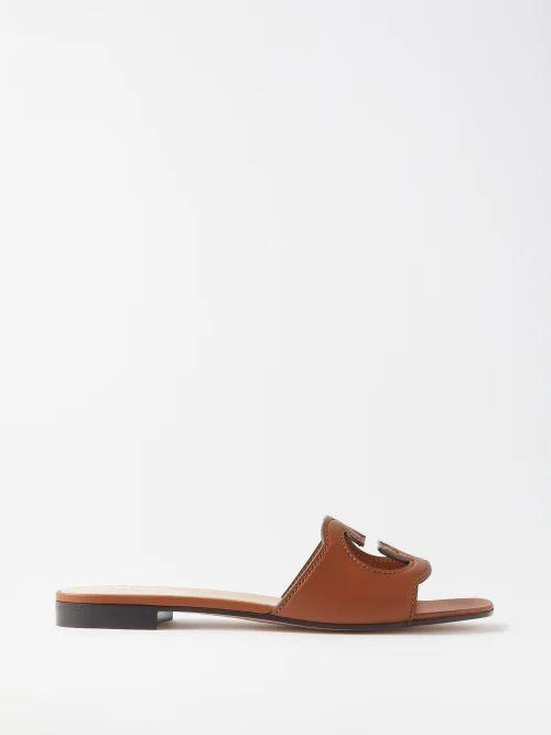 La Doublej - Bouncy Columbo Print Cotton Midi Dress - Womens - Navy Print