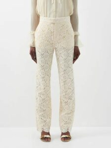 La Doublej - Bouncy Columbo Print Cotton Midi Dress - Womens - Navy Print