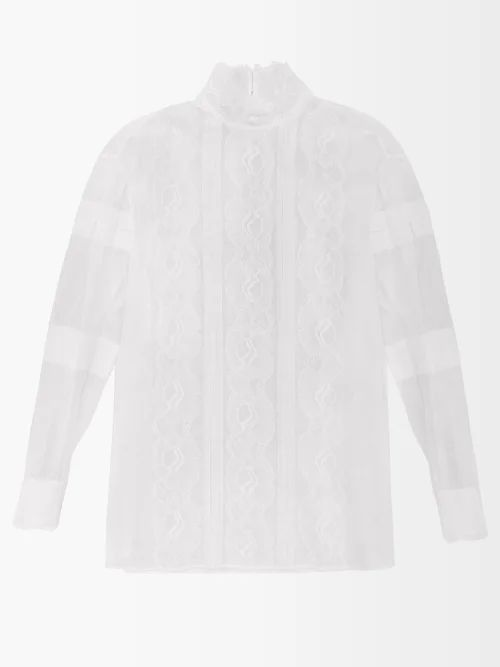 La Doublej - Talitha Silk Katftan - Womens - Blue Print