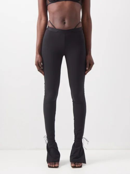 La Doublej - Trapezio Dragon Flower Brocade Maxi Dress - Womens - Pink Print