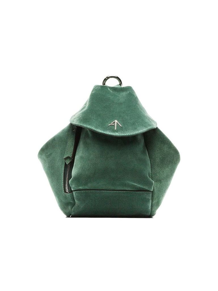 Manu Atelier green fernweh mini suede leather backpack