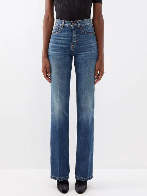 La Doublej - Dragon Flower Floral Brocade Pencil Skirt - Womens - Pink Print