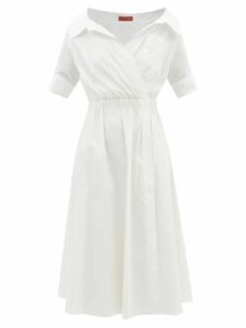 La Doublej - Dragon Flower Floral Brocade Pencil Skirt - Womens - Pink Print