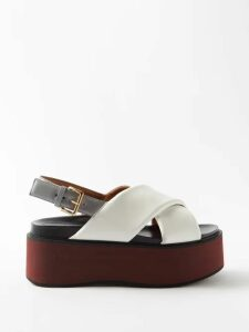 Gül Hürgel - Floral Print Linen Midi Dress - Womens - Yellow Print