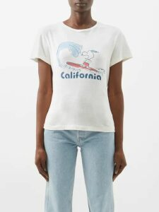 Gül Hürgel - Floral And Grid Print Linen Midi Dress - Womens - White Print