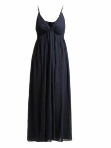 Loup Charmant - Adelaide Cotton Midi Dress - Womens - Navy