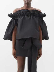 La Doublej - Visconti Dragon Flower Print Silk Mini Dress - Womens - Pink Print
