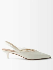 Albus Lumen - Carino Gathered Silk Chiffon Dress - Womens - Brown