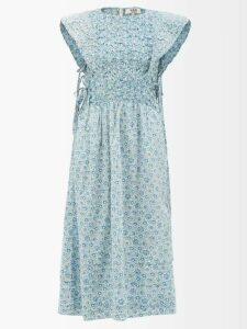 Galvan - Sequined Stretch Tulle Mini Dress - Womens - Rose Gold