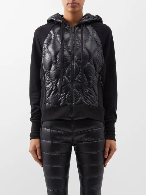 Dolce & Gabbana - Rose Print Single Breasted Silk Coat - Womens - Black Pink