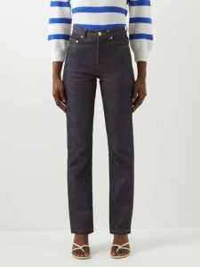 Miu Miu - Prince Of Wales Check Crystal Appliqué Wool Coat - Womens - Brown Multi