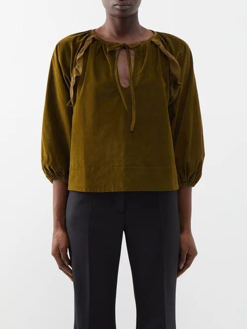 Joseph - Lista Tie Waist Wool Blend Coat - Womens - Black