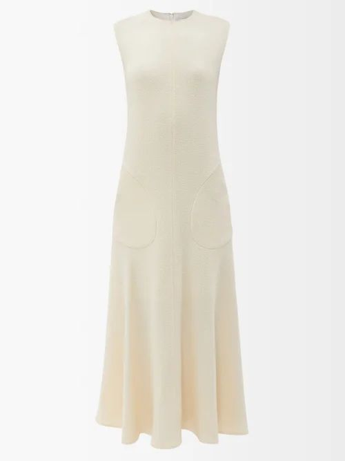 Dolce & Gabbana - Floral Print Gathered Georgette Gown - Womens - Black Multi