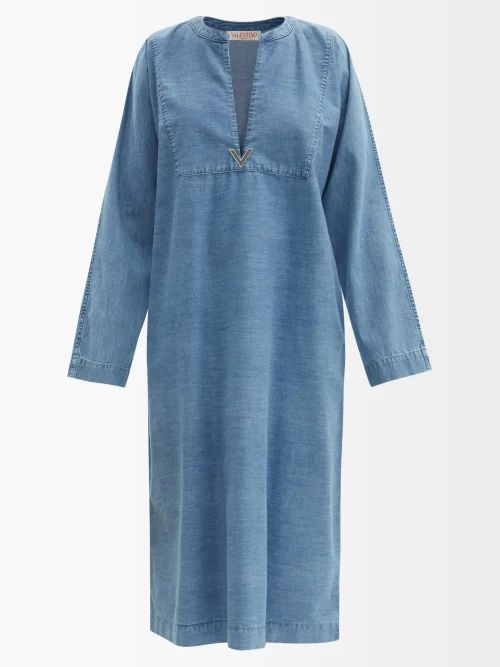 Preen Line - Amejila Floral Print Lace Trim Asymmetric Skirt - Womens - Black Multi