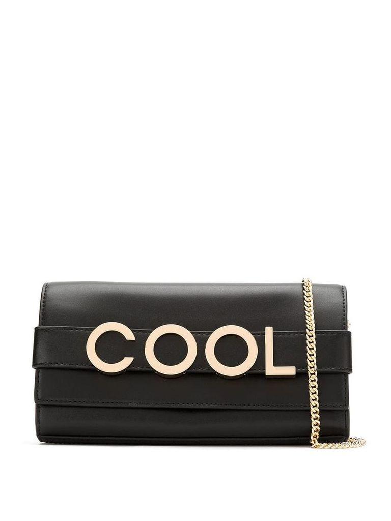 Michael Michael Kors cool appliqué clutch bag - Black