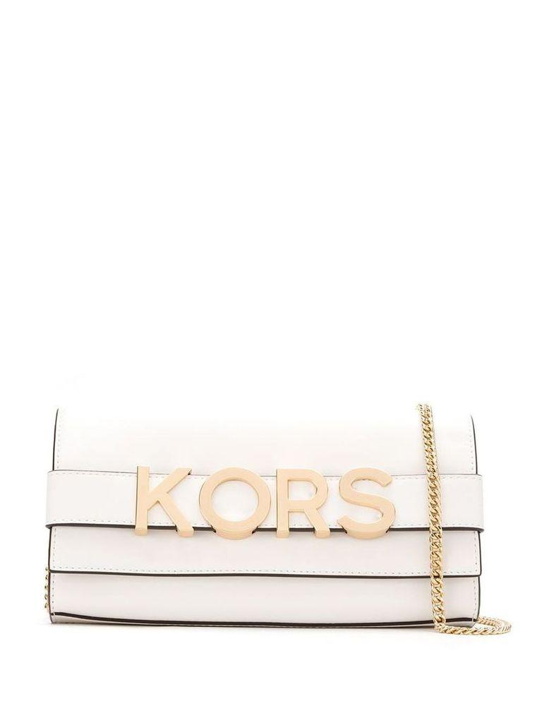 Michael Michael Kors appliqué clutch bag - White