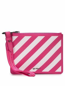 Off-White Diag Double clutch - Pink