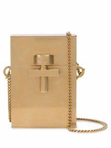 Oscar de la Renta Alibi mini metal bag - Gold