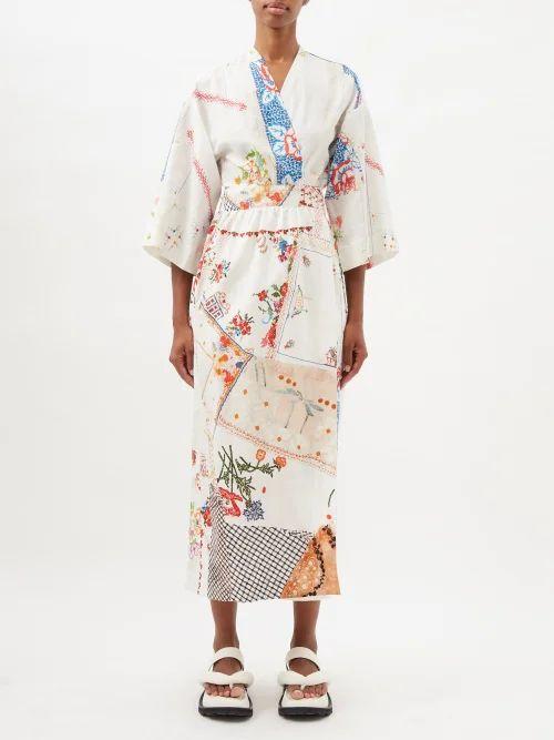 Loewe - Handkerchief Hem Pleated Skirt - Womens - Navy