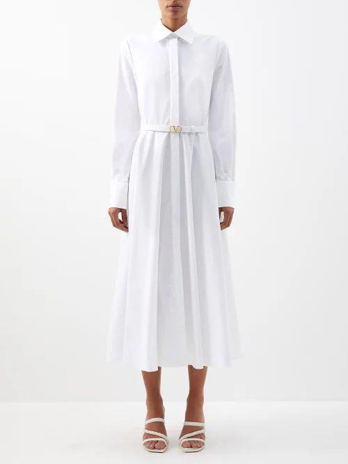 Allude - Cashmere Midi Skirt - Womens - Dark Green