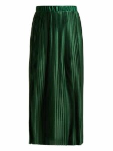 Givenchy - Pleated Satin Skirt - Womens - Green