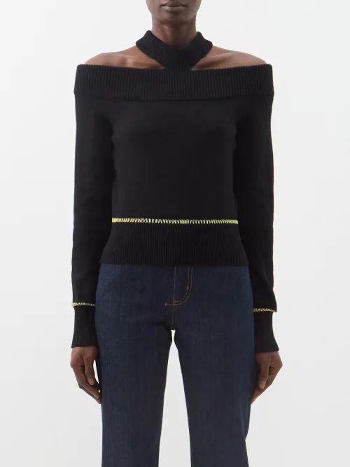 No. 21 - Floral Print Pussybow Silk Dress - Womens - Green