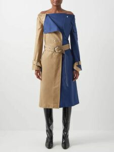 Isabel Marant - Cobe Knotted Leather Mini Dress - Womens - Black