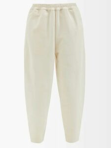 Alexander Mcqueen - Off The Shoulder Stripe Knitted Midi Dress - Womens - Black