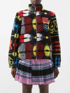 Diane Von Furstenberg - Phoenix Wrap Front Dress - Womens - Black Red
