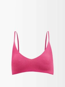 No. 21 - Pleated Floral Lace Mini Dress - Womens - Black