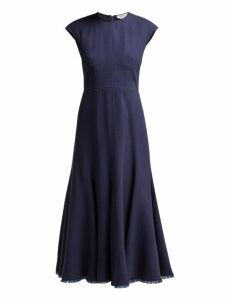 Gabriela Hearst - Crowther Panelled Cady Dress - Womens - Navy Multi