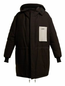 Raf Simons - Oversized Houndstooth Padded Down Parka - Womens - Black Multi