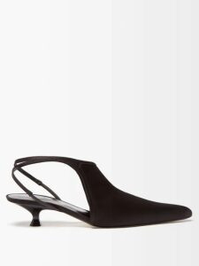 Fendi - Logo Jacquard Stretch Pencil Skirt - Womens - Brown Multi
