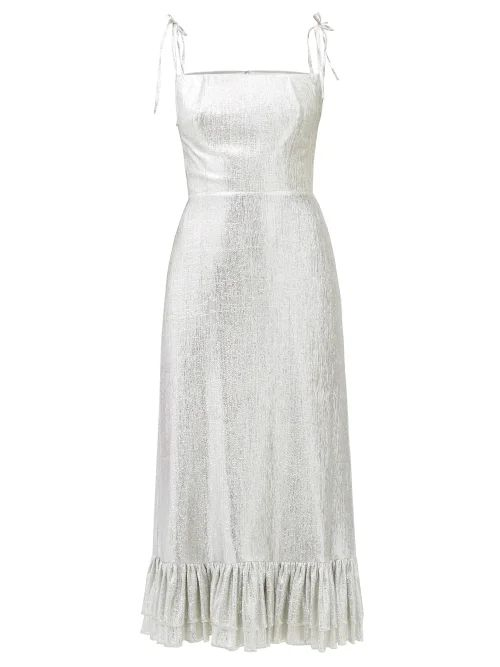 Isabel Marant Étoile - Tempster Floral Print Cotton Wrap Skirt - Womens - Red