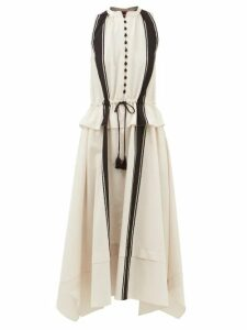 Gucci - High Rise Geometric Tweed Midi Skirt - Womens - Red Multi