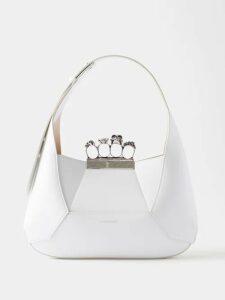 Dolce & Gabbana - Leopard Print Trim Double Breasted Crepe Blazer - Womens - White