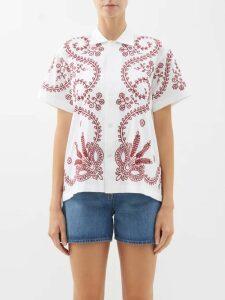 Dolce & Gabbana - Leopard Shawl Lapel Sequinned Blazer - Womens - Leopard