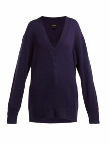 Isabel Marant - Cadzi Oversized Cashmere Sweater - Womens - Navy
