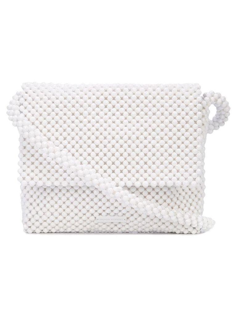 Loeffler Randall Roz beaded shoulder bag - White