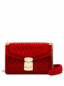 Miu Miu Miu Confidential matelassé velvet bag - Red