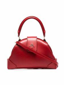 Manu Atelier red demi top handle leather shoulder bag