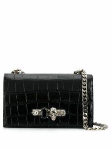 Alexander McQueen knuckle shoulder bag - Black