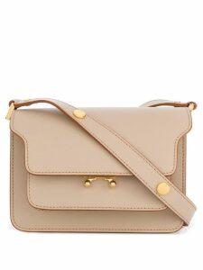 Marni Trunk shoulder bag small - Neutrals