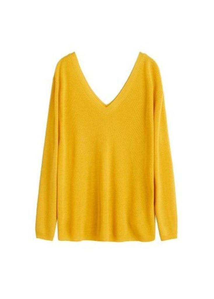V-neckline sweater