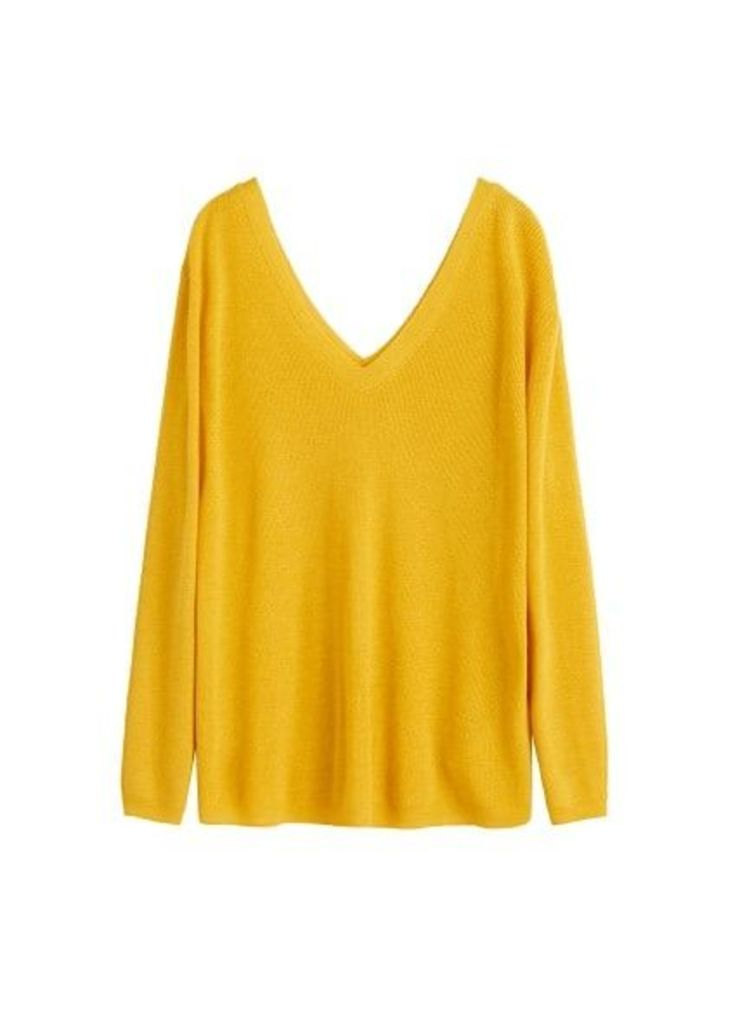V-neckline sweater