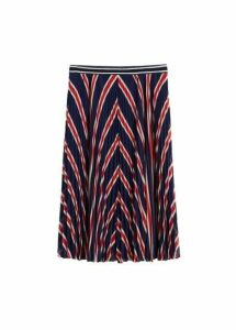 Stripes pleated skirt