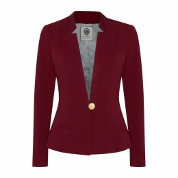 Menashion - Blazer No. 500 Slim Fit Burgundy Red