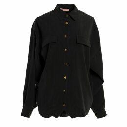 Tomcsanyi - Felszab Charcoal Oversized Shirt